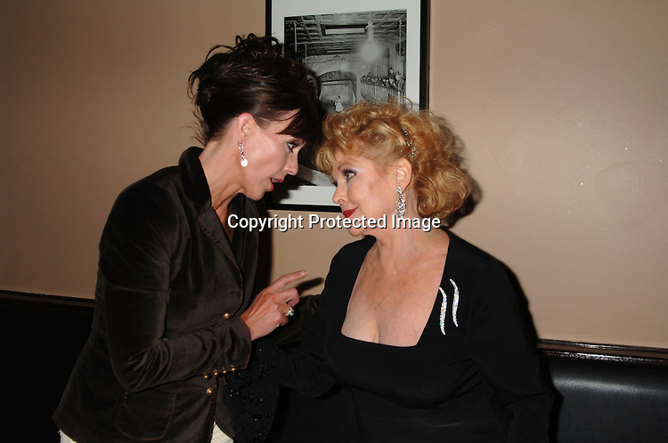 """Colleen Zenk Pinter and Eileen Fulton ..at Eileen Fulton's singing engagement at The Metropolitan..Room in New York City on September 28, 2006. She just ..released a new CD called """"Along For The Ride.""""..Robin Platzer, Twin Images"""