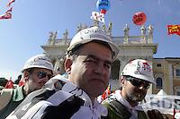 Roma, 20 Ottobre 2012.Piazza San Giovanni.Manifestazione nazionale della CGIL.Il lavoro prima di tutto