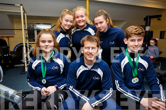 El Nino Rowing Club members front l-r; Jane O'Connor, David Hussey(Trainer),Adam Casey, back l-r; Muireann Lynch, Aoife Murphy & Rachel Devane were at the top of their game on Saturday 20th for the Irish Indoor Rowing Championships which took take place at the UL Arena, Jane O'Connor took Bronze in the U13 500m and Adam Casey came away with 2 Gold's - one for the 3 minute and the second for the U13 500m setting a new National record of 1:39.