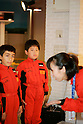 "KIDZANIA TOKYO, ""Edutainment City"",.children receiving mechanic training at Autobacs."