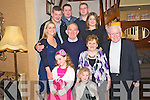 Pat and Joan O'Sullivan, Kilcummin, pictured with Rebecca and Roisin O'Sullivan, Fr Patrick Courtney, Sheila O'Sullivan, Geraoid Nagle, Patrick, Donal and Aideen O'Sullivan as they celebrated their 40th wedding anniversary in the Royal Hotel, Killarney on Saturday night......................