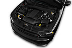 Car Stock 2015 Dodge Durango R/T-RWD 5 Door SUV Engine  high angle detail view