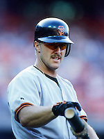 Jeff Kent of the San Francisco Giants during a 1999 Major League Baseball season game against the Los Angeles Dodgers at Dodger Stadium in Los Angeles, California. (Larry Goren/Four Seam Images)