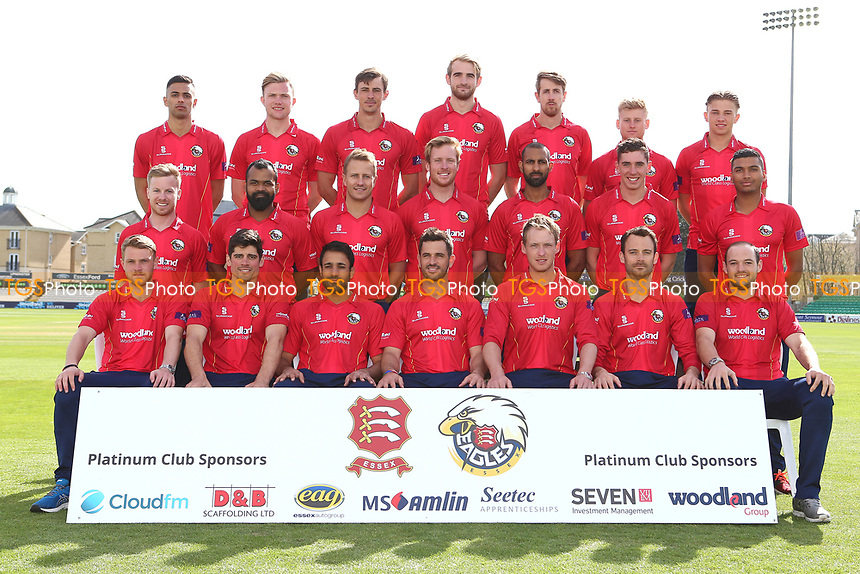 Essex players in Royal London Cup 50 over kit during the Essex CCC Press Day at The Cloudfm County Ground on 5th April 2017