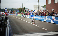race winner: European U23 Champion Michael Vanthourenhout (BEL/Sunweb-Napoleon Games) in the lead<br /> <br /> GP Mario De Clercq 2014<br /> Hotond Cross<br /> CX BPost Bank Trofee - Ronse