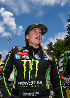 Jun 17, 2017; Bristol, TN, USA; NHRA top fuel driver Brittany Force during qualifying for the Thunder Valley Nationals at Bristol Dragway. Mandatory Credit: Mark J. Rebilas-USA TODAY Sports