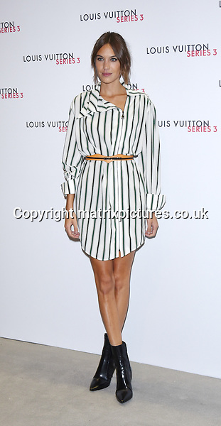 NON EXCLUSIVE PICTURE: MATRIXPICTURES.CO.UK<br /> PLEASE CREDIT ALL USES<br /> <br /> WORLD RIGHTS<br /> <br /> English model and television presenter, Alexa Chung attending the Louis Vuitton Series 3 Exhibition launch party, in London. <br /> <br /> SEPTEMBER 20th 2015<br /> <br /> REF: SLI 152927