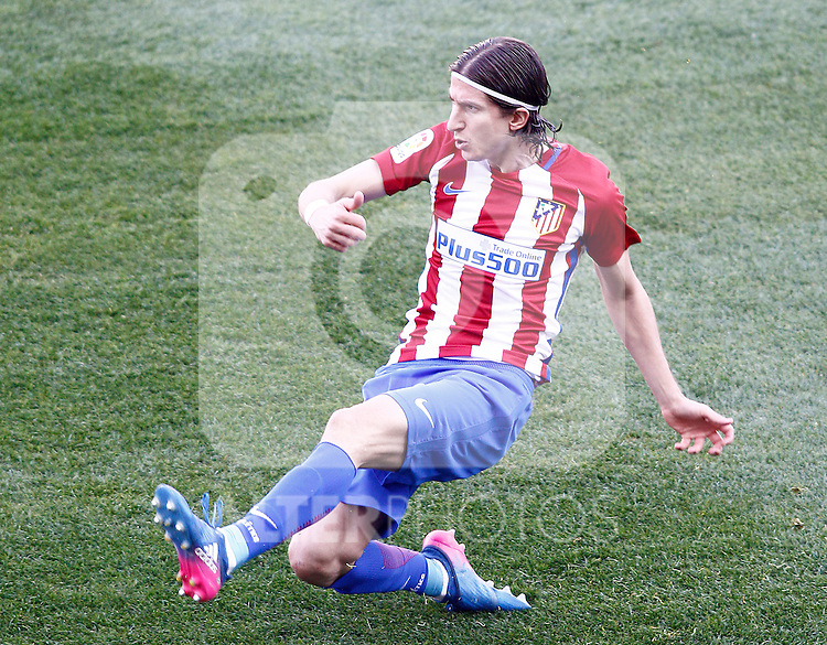 Atletico de Madrid's Filipe Luis during La Liga match. February 26,2017. (ALTERPHOTOS/Acero)
