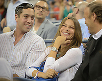 August 30, 2012: Nick Loeb (fiance) and Actress Sofia Vergara watches a match with Venus Williams at Arthur Ashe stadium at the USTA Billie Jean King National Tennis Center in New York City. © mpi04 / MediaPunch Inc. NortePhoto.com<br />