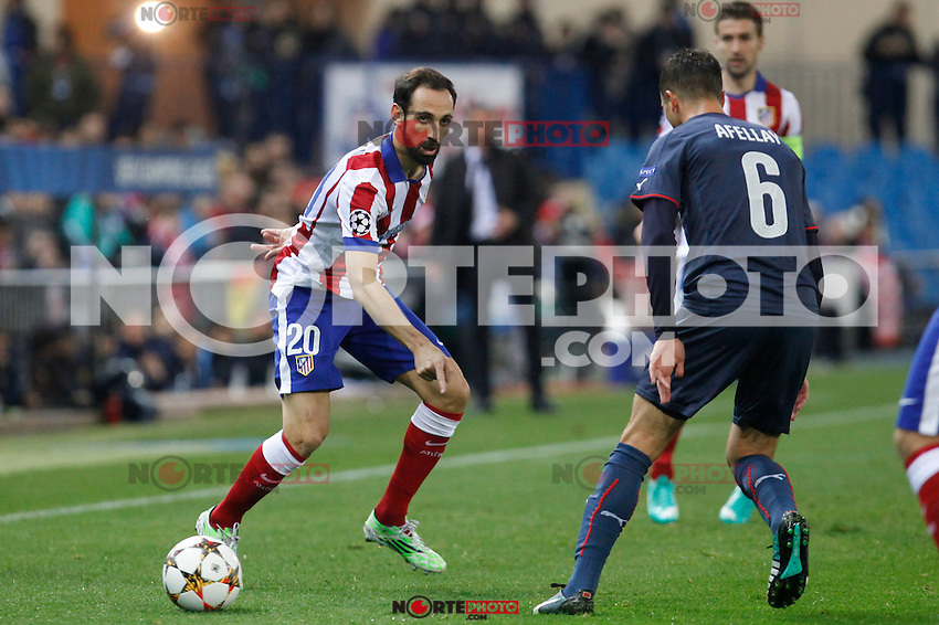 Atletico de Madrid´s Juanfran during Champions League soccer match between Atletico de Madrid and Olympiacos at Vicente Calderon stadium in Madrid, Spain. November 26, 2014. (ALTERPHOTOS/Victor Blanco) /NortePhoto