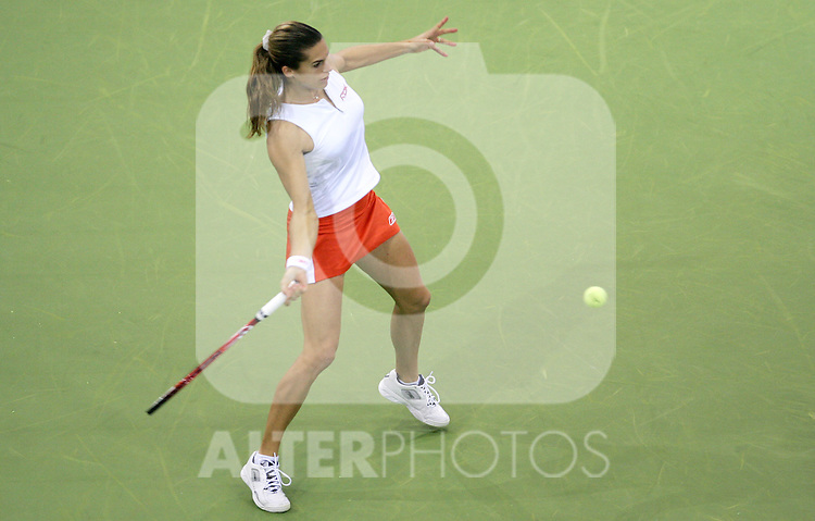 France's Amelie Mauresmo during her WTA Madrid Masters Series Tennis match against Belgium's Justin Henin-Hardenne at Madrid Arena, Friday 10 November, 2006. (ALTERPHOTOS/Alvaro Hernandez).