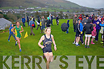 Action from the Senior Ladies Cross Country Championships in Cahersiveen on Sunday pictured here leading Maria McCarthy from Farranfor/MaineValley AC being followed closely by Niamh O'Sullivan from An Riocht AC.