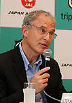 "September 11, 2017, Tokyo, Japan - World's largest travel site operator TripAdvisor president Stephen Kaupher speaks ebfore press at the JAL headquarters in Tokyo on Monday, September 11, 2017. TripAdvisor and JAL announced a strategic partnership and JAL will launch a website of ""Untold Stories of Japan"" on the TripAdvisor website from October for the promotion of tourism in Japan. (Photo by Yoshio Tsunoda/AFLO) LWX -ytd-"
