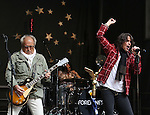 "NEW YORK, NY - JUNE 14:  Mick Jones and Kelly Hansen of Foreigner perform at ""FOX & Friends"" All American Concert Series outside of FOX Studios on June 14, 2013 in New York City.  (Photo by Walter McBride/FilmMagic)"