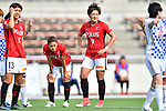 (L-R) スィ Akari Shiraki, 「/Kozue Ando,  セ、ェ」 Yuika Sugasawa (Reds Ladies), <br /> JUNE 17, 2017 - Football / Soccer : <br /> Plenus Nadeshiko League Cup 2017 Division 1 <br /> match between Urawa Reds Ladies 0-0 Vegalta Sendai Ladies <br /> at Saitama Urawa Komaba Stadium in Saitama, Japan. <br /> (Photo by MATSUO.K/AFLO SPORT)