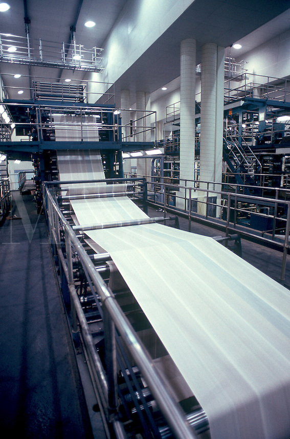 Newspaper printing operation.