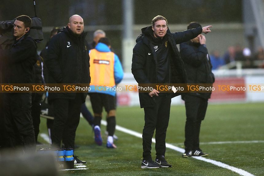Maidstone United Manager, Harry Wheeler during Maidstone United vs Oldham Athletic, Emirates FA Cup Football at the Gallagher Stadium on 1st December 2018