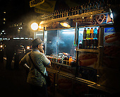 Hot dog stand in New York City