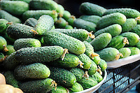 Cucumber on farmers market
