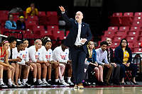 College Park, MD - March 23, 2019: Radford Highlanders head coach Mike McGuire on the sidelines during first round action of game between Radford and Maryland at Xfinity Center in College Park, MD. Maryland defeated Radford 73-51. (Photo by Phil Peters/Media Images International)