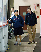 (Knapp) Stan Wong (US - Trainer), Jason Hodges (US - Trainer) - Team USA defeated Team Russia 6-0 in their final game during the 2009 USA Hockey National Junior Evaluation Camp on Saturday, August 15, 2009, in the USA (NHL-sized) Rink in Lake Placid, New York.
