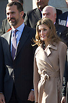 Madrid (13/01/11).- Prince Felipe and Princess Letizia, accompanied by Cristina Garmendia (Science minister), presided 'Science and Innovation' City awards at CSIC headquarters in Madrid..Photo: Cesar Cebolla  / ALFAQUI