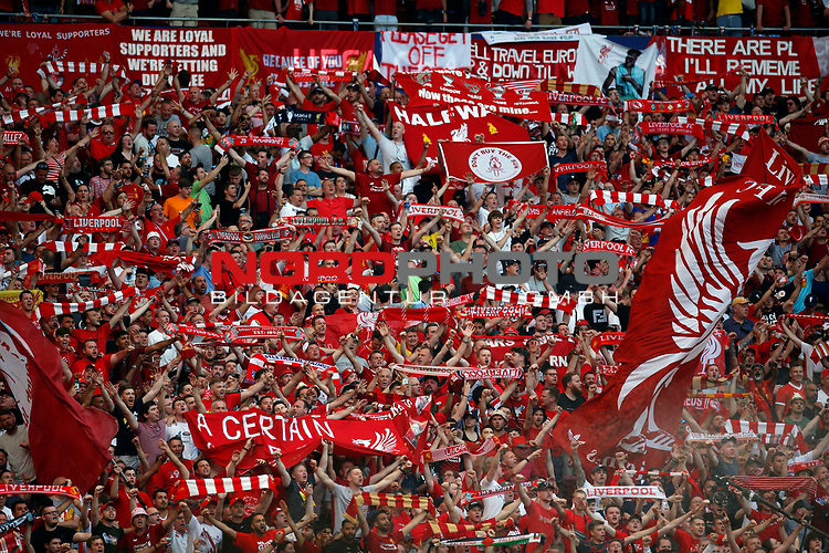 Supporters of Liverpool during UEFA Champions League match, Final Roundl between Tottenham Hotspur FC and Liverpool FC at Wanda Metropolitano Stadium in Madrid, Spain. June 01, 2019.(Foto: nordphoto / Alterphoto /Manu R.B.)