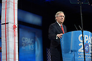 March 14, 2013  (National Harbor, Maryland)  Senate Minority Leader Mitch McConnell addresses attendees of the 2013 Conservative Political Action Conference (CPAC) in National Harbor, MD on March 15, 2013.  (Photo by Don Baxter/Media Images International)