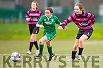 Clodagh Boughan Killarney Celtic takes on the Carrick defence during the FAI cup in Killarney on Sunday