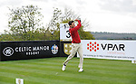 Wale's Gethin Jones Hits a tee shot off the 3rd..Celebrity Cup at Golf Live  - Day 2 - Celtic Manor Resort - Saturday 11th  May  2013 - Newport ..© www.sportingwales.com- PLEASE CREDIT IAN COOK