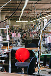 Inside of the sewing floor of the American Apparel garment factory in Los Angeles, February 6, 2015.