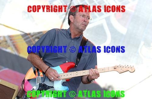 Eric Clapton, Live, Crossroads Guitar Festival , On June 6, 2004.Photo Credit: Eddie Malluk/Atlas Icons.com