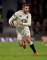 England's Elliot Daly<br /> <br /> Photographer Bob Bradford/CameraSport<br /> <br /> Quilter Internationals - England v South Africa - Saturday 3rd November 2018 - Twickenham Stadium - London<br /> <br /> World Copyright &copy; 2018 CameraSport. All rights reserved. 43 Linden Ave. Countesthorpe. Leicester. England. LE8 5PG - Tel: +44 (0) 116 277 4147 - admin@camerasport.com - www.camerasport.com