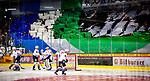 Falken vor Bietigheimer Fanblock beim Spiel in der DEL2, Bietigheim Steelers (dunkel) -  Heilbronner Falken (hell).<br /> <br /> Foto © PIX-Sportfotos *** Foto ist honorarpflichtig! *** Auf Anfrage in hoeherer Qualitaet/Aufloesung. Belegexemplar erbeten. Veroeffentlichung ausschliesslich fuer journalistisch-publizistische Zwecke. For editorial use only.