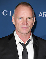 LOS ANGELES, CA - NOVEMBER 02: Sting (Gordon Sumner) at  LACMA 2013 Art + Film Gala held at LACMA  in Los Angeles, California on November 2nd, 2012 in Los Angeles, CA., USA.<br /> CAP/DVS<br /> &copy;DVS/Capital Pictures