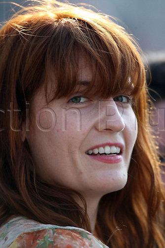 25.04.2013 London, England. Florence Welch from Florence and the Machine watching  during the LV Country Championship Division One game between Surrey and Sussex from the Kia Oval.