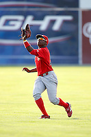 August 2, 2009:  Center Fielder Leandro Castro of the Williamsport Crosscutters during a game at Dwyer Stadium in Batavia, NY.  Williamsport is the Short-Season Class-A affiliate of the Philadelphia Phillies.  Photo By Mike Janes/Four Seam Images