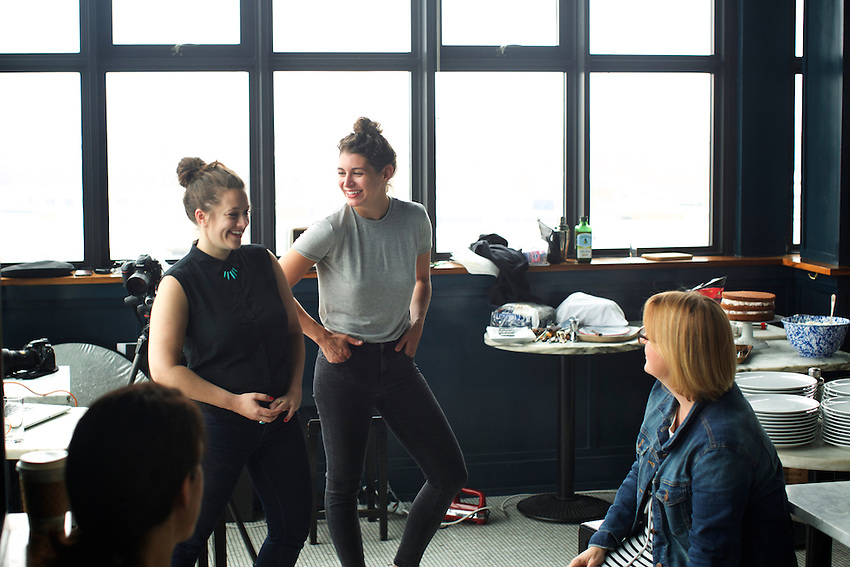 BROOKLYN, NY - May 2, 2016: A food photography workshop, led by photographer Liz Clayman and food stylist, Rebekah Peppler at the fifth annual Food Book Fair at the Wythe Hotel in Williamsburg.<br /> <br /> CREDIT: Clay Williams for Food Book Fair.<br /> <br /> &copy; Clay Williams / claywilliamsphoto.com