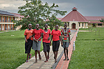 Young women walk along a path in the Good Shepherd Peace Center in Kit, South Sudan. The center is sponsored by Solidarity with South Sudan.