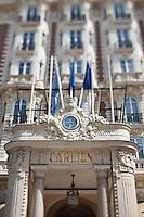 Europe/France/Provence-Alpes-Côte d'Azur/06/Alpes-Maritimes/Cannes: Détail de l'entrée de l'Hôtel Carlton