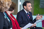 "BRUSSELS - BELGIUM - 24 November 2016 -- European Training Foundation (ETF) Conference on ""GETTING ORGANISED FOR BETTER QUALIFICATIONS"" - Panel discussion: Making QFs work globally. -- Malik Althuwaynee, Senior Consultant - Complete Media Solution/ National Qualifications Authority- UAE. -- PHOTO: Juha ROININEN / EUP-IMAGES"