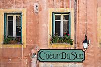 Europe/France/Languedoc-Roussillon/66/Pyrénées-Orientales/Conflent/Villefranche-de-Conflent: Détail façade dans la Ville fortifiée