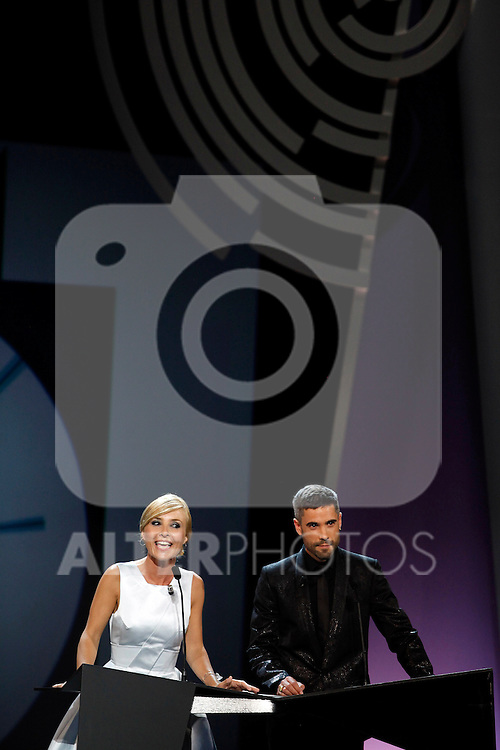 Cayetana Guillen Cuervo and Alex Ugalde during the 61st San Sebastian International Film Festival's opening ceremony, in San Sebastian, Spain. September 20, 2013. (ALTERPHOTOS/Victor Blanco)