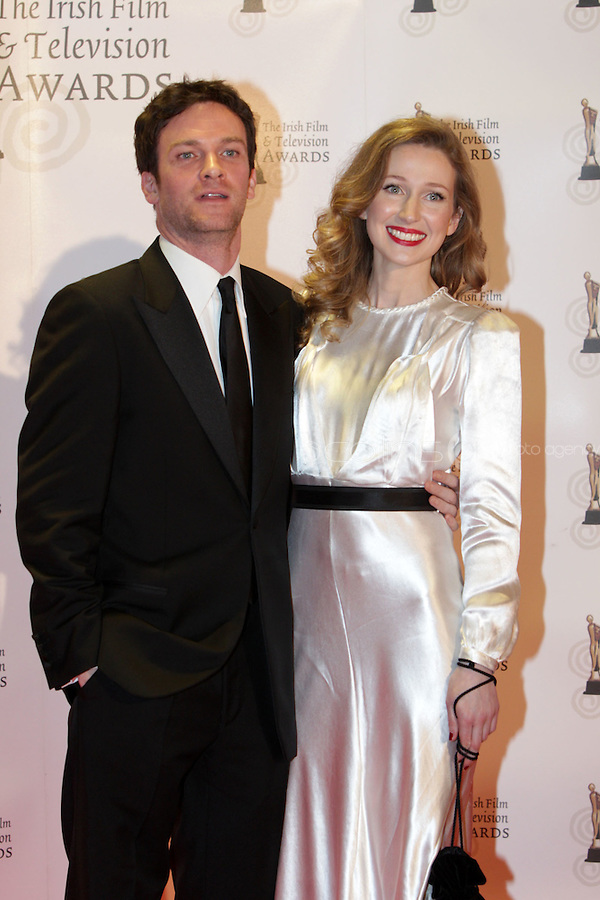 12/2/11 Keith McErlean and Aine Darcy won the red carpet at the 8th Irish Film and Television Awards at the Convention centre in Dublin. Picture:Arthur Carron/Collins
