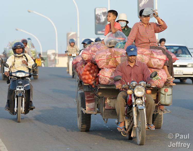 Transportation in Phnom Penh, Cambodia.