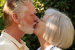 Mature couple in kissing