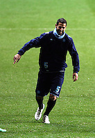 Miguel Britos of Napoli during training