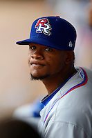 Round Rock Express pitcher Lisalverto Bonilla #44 during a game against the New Orleans Zephyrs on April 15, 2013 at Zephyr Field in New Orleans, Louisiana.  New Orleans defeated Round Rock 3-2.  (Mike Janes/Four Seam Images)