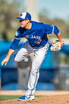 6 March 2019: Toronto Blue Jays top prospect pitcher Patrick Murphy on the mound during a Spring Training game against the Philadelphia Phillies at Dunedin Stadium in Dunedin, Florida. The Blue Jays defeated the Phillies 9-7 in Grapefruit League play. Mandatory Credit: Ed Wolfstein Photo *** RAW (NEF) Image File Available ***