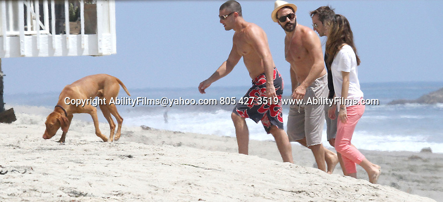 July 30th 2012  Exclusive <br /> <br /> Jeremy Piven shirtless on the beach in Malibu California with friends. <br /> <br /> <br /> AbilityFilms@yahoo.com<br /> 805 427 3519<br /> www.AbilityFilms.com